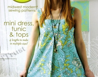 Amy Butler Sewing Pattern Mini Dress, Tunic and Tops - FREE SHIPPING