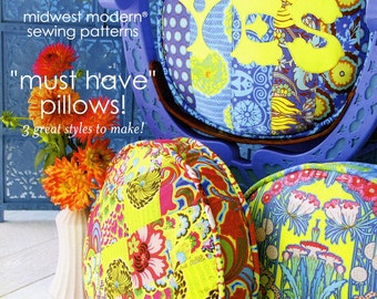 Amy Butler Sewing Pattern Must Have Pillows (3 Pillows) - FREE SHIPPING