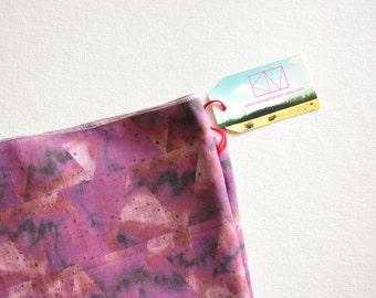 Sheer Wrap Scarf - Fuschia Electric Triangles - Studio Sale