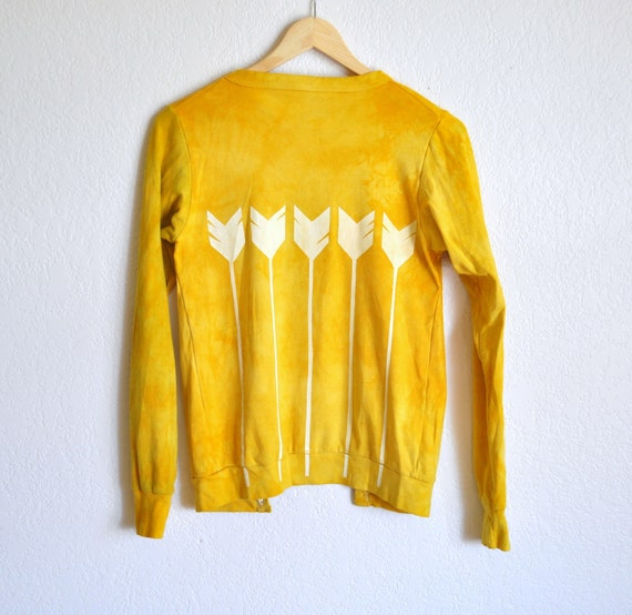 Sunshine Arrows Screen Printed Cardigan- On Sale