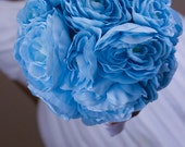 Baby Blue Pearl Bridal Bouquet