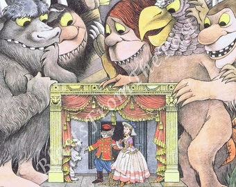 Vintage MAURICE SENDAK Poster Print 'Double Bill at Glyndebourne' Perfect for Framing, Kids Decor, Nursery, Wild Things, Classroom, Playroom