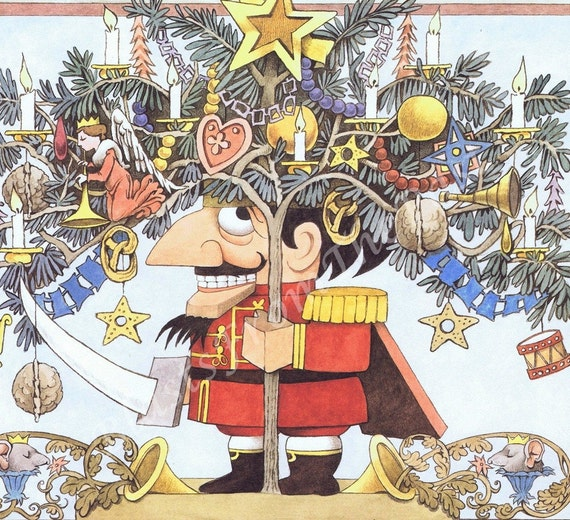 MAURICE SENDAK Poster Print 'Nutcracker', Adorable, Perfect for Framing, Beautifully Illustrated, Adorable, Playful