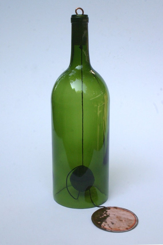 1 5 liter wine bottle wind chime by wynechyme on etsy