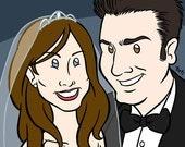Personalized Wedding Cartoon - Custom Digital Caricature