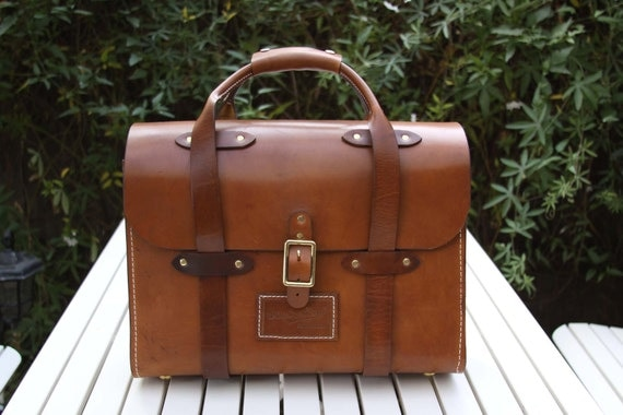 Leather vintage attorney's briefcase