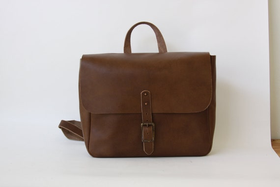 Leather vintage-inspired mailman messenger bag CLEARANCE SALE