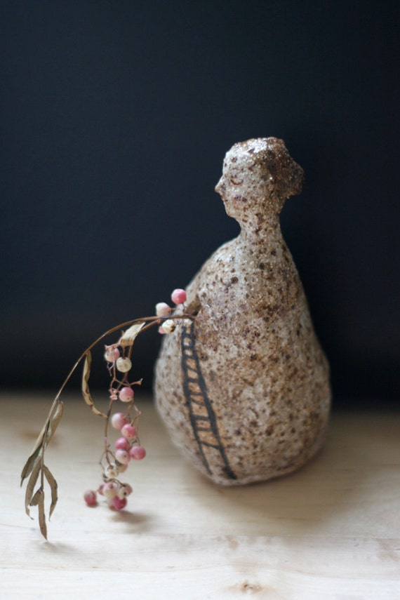 """RESERVED : Small vase for one flower 3   """" Ladder to a window"""""""