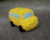 Mini School Bus Crochet PATTERN