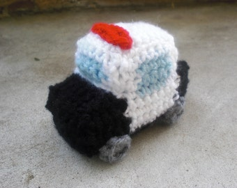 Mini Police Car Crochet PATTERN