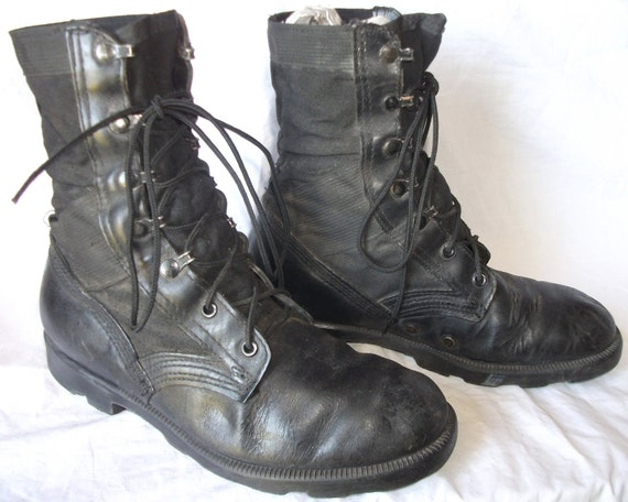 Wonderful Vintage USA Made Altama Mens Vintage Military Lace up Canvas Leather Duty Boots sz 7 W