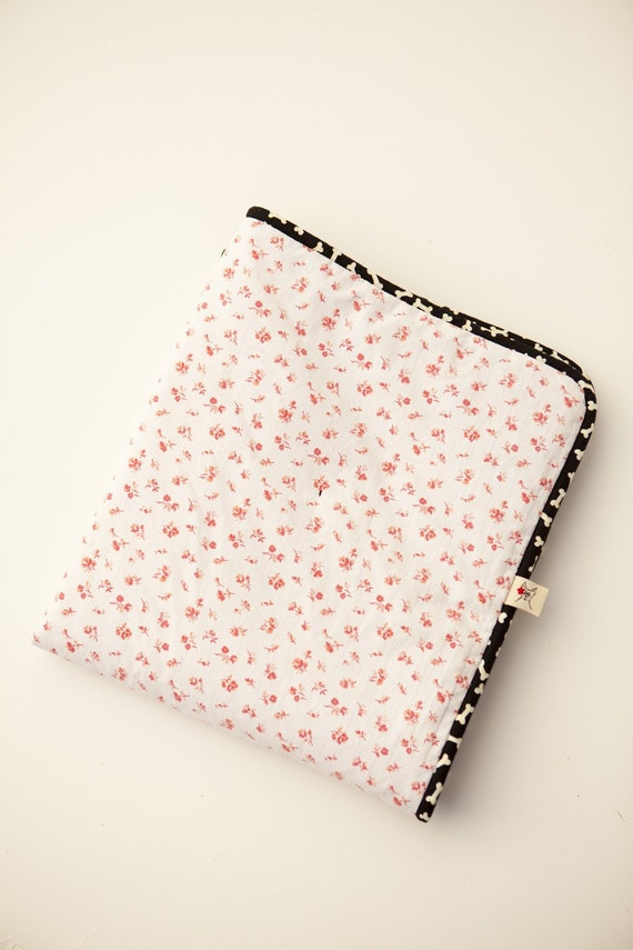 Pink for your Pet  Repurposed Small BarkingDogBlanket - Rose Buds