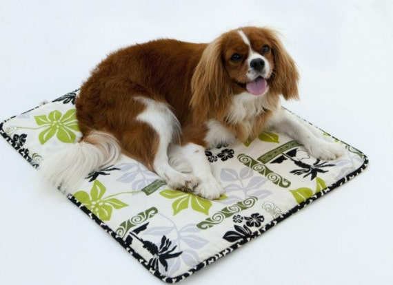 Cream Tiki Barking Dog Blanket Medium