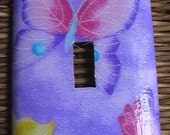 Butterflies Single Toggle Light Switch Plate Cover