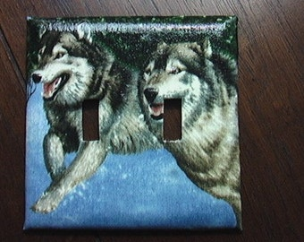 Wolf Double Toggle Light Switch Plate Cover