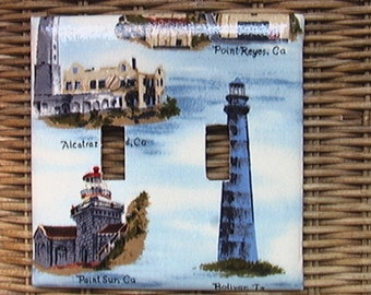 Lighthouse Double Toggle Light Switch Cover Plate