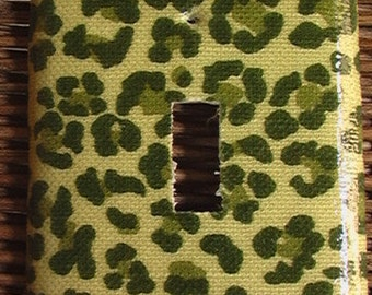Green Camouflage Single Toggle Light Switch Plate Cover