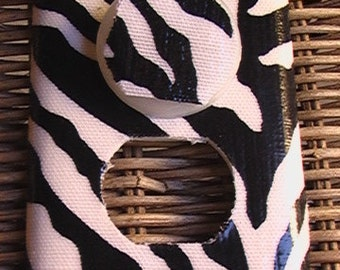 Zebra Outlet Cover with Child Safety Plug Covers