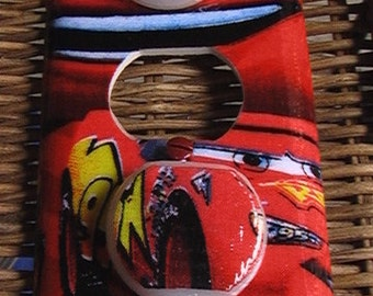Disney Lightning McQueen Outlet Cover with Child Safety Plugs Switch Covers to match in Shop