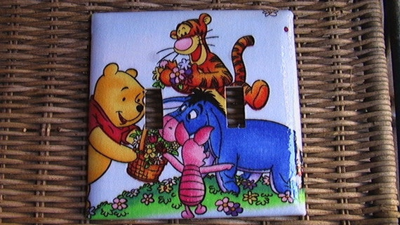Disney Winnie the Pooh and Gang Double Toggle Light Switch Plate Cover