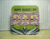"Father's Day ""DAD"" handmade card"