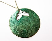 READY TO SHIP: Large Basse Taille Necklace - Beryl / Mint
