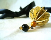 Sweet Music Necklace - Upcycled Spherical Paper Bead Musical Pendant