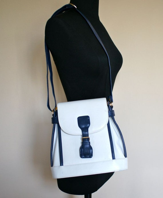 60s White Backpack Shoulder Purse