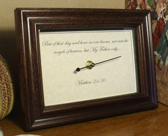 Scripture Verse Print - Blessed Hope Desk Plaque - Matthew 24.36