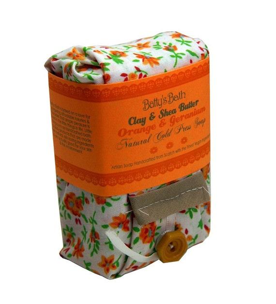 Orange Ceranium 100% Natural Cold Press Soap Bar - Clay & Shea Butter