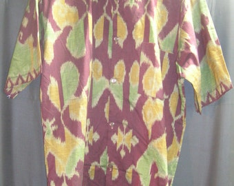 Legong Board Shirt NWT SZ Medium Short Sleeve Batik Mens Handmade Gift