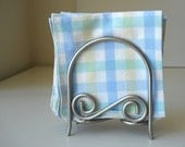 Cloth Table Napkins in Pastel Gingham, set of 7