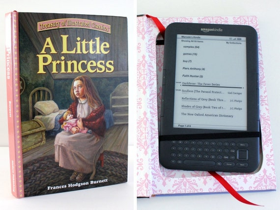 Kindle 3 Case: Ready to ship. recycled hardcover book - A Little Princess (HOLD for ELLE KAY)