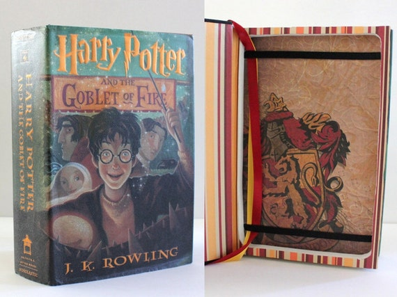 Harry Potter Book Kindle Case ~ Kindle case harry potter and the goblet of fire made to order