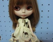 Dress for Blythe Dogs printed fabric