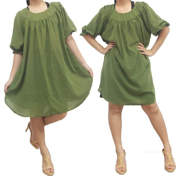 Green Long Blouse or Shirt