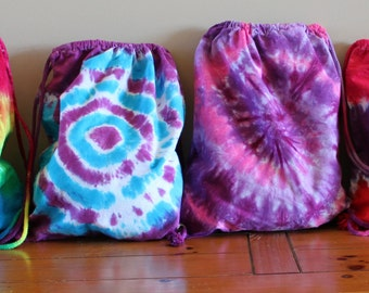 BAGS BAGS and more BAGS. Custom made tie dye bags