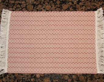 Handwoven Placemats - Rose