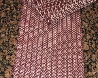 Handwoven Table Runner - Burgandy