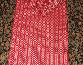 Handwoven Table Runner - Red