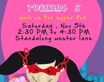 Superhero Birthday invitations | birthday party invitations | birthday invites | printable birthday invitations