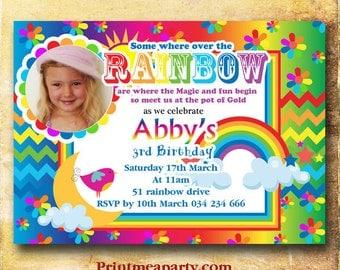 Art Party Invitation -Rainbow Art printable - Multicolored Birthday - Paint Party - Rainbow Invitation - girl birthday - Boy birthday