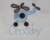 Personalized Helicopter Applique T-Shirt or Onesie