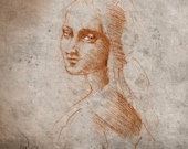 Mona Lisa's Sister - Fine Art Print from my Original Drawing