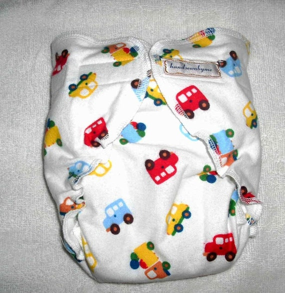 handsewnbyme 1 Fitted Cloth Diaper Approx 10-20 POUNDS Baby Cars READY To SHIP