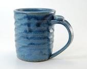 Handmade Mug - Pottery Mug - Ceramic Mug - Stoneware Mug - Coffee Mug  - Blue Mug