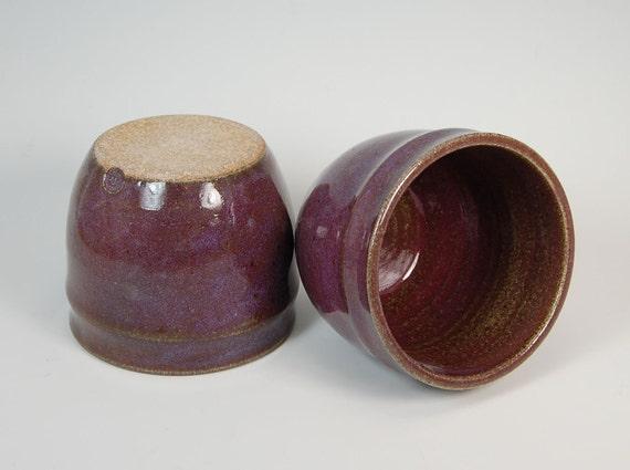 2 Ceramic Teacups - Ceramic Mug - Ceramic Tumbler - Stackable