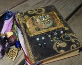 Small Book in Black Felt with Beads