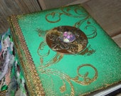 Photo Album in Teal Green and Gold