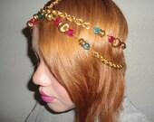 Gold vintage chain headband